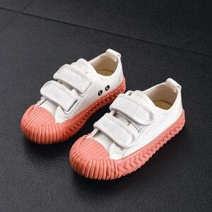 Image 4 - Детские парусиновые кроссовки JAKOBBEAR, повседневная обувь для девочек и мальчиков, садовые кроссовки