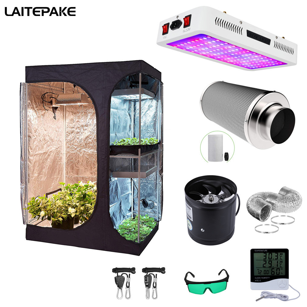 Led Grow Light Grow Tent 4/6 Inch Fan Carbon Filter Suit With Veg/Bloom Full spectrum For Indoor Grow Box Hydroponics Plant Grow(China)