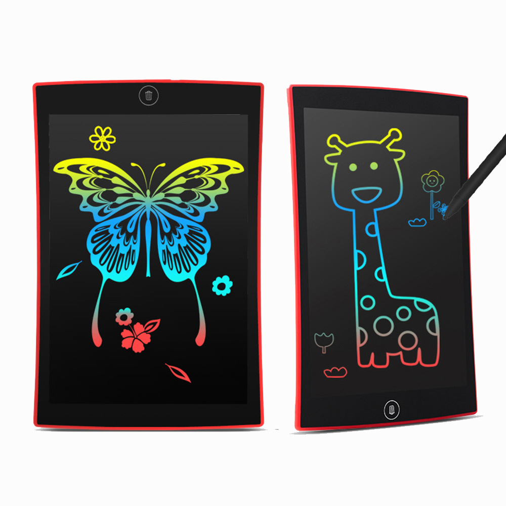 Drawing toys 9.5 inch LCD write board Ultra-thin Tablets Portable E-writer Toy Kids Child Educational rechargeable rainbow colorLearning & Education
