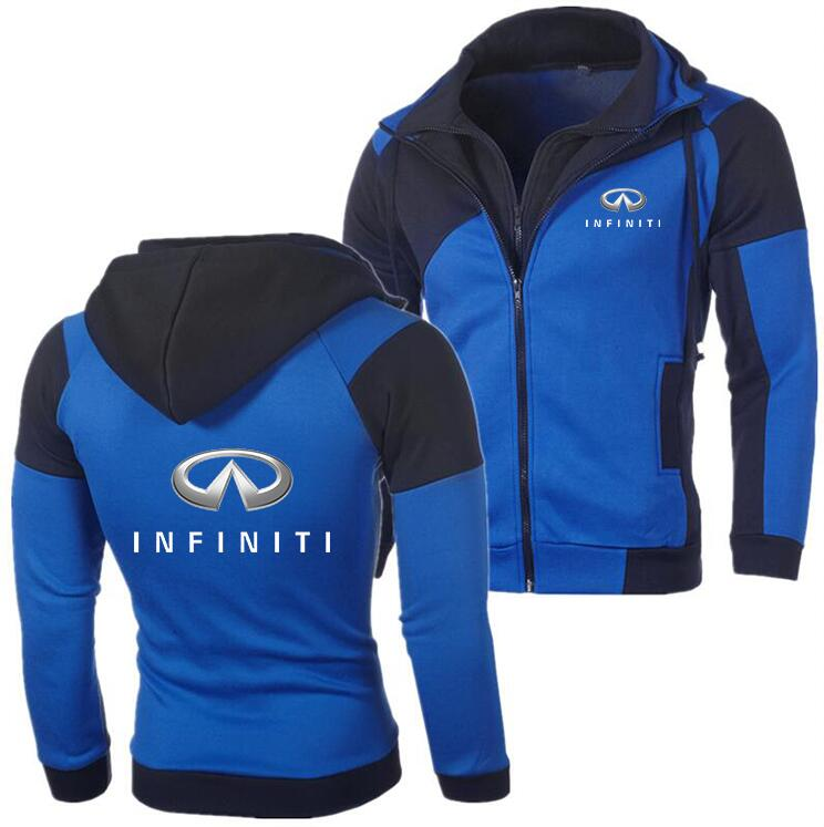 2019 Winter New Fashion Infiniti Hoodie Men Zipper Cardigan MERF1 Hoodie Sweatshirts Cadillac Casual Coat Tops