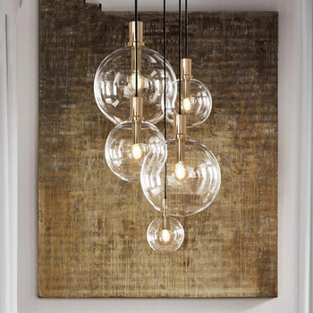 lyustra lampa Art Designer Modern LED pendant light black gold glass kitchen dining room hanging lamp LED bar
