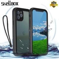 Shellbox-funda impermeable para iPhone, funda de silicona a prueba de golpes para exteriores, para natación, 13, 12, 11 Pro, Max, XS, MAX, XR, 8, 7, 6