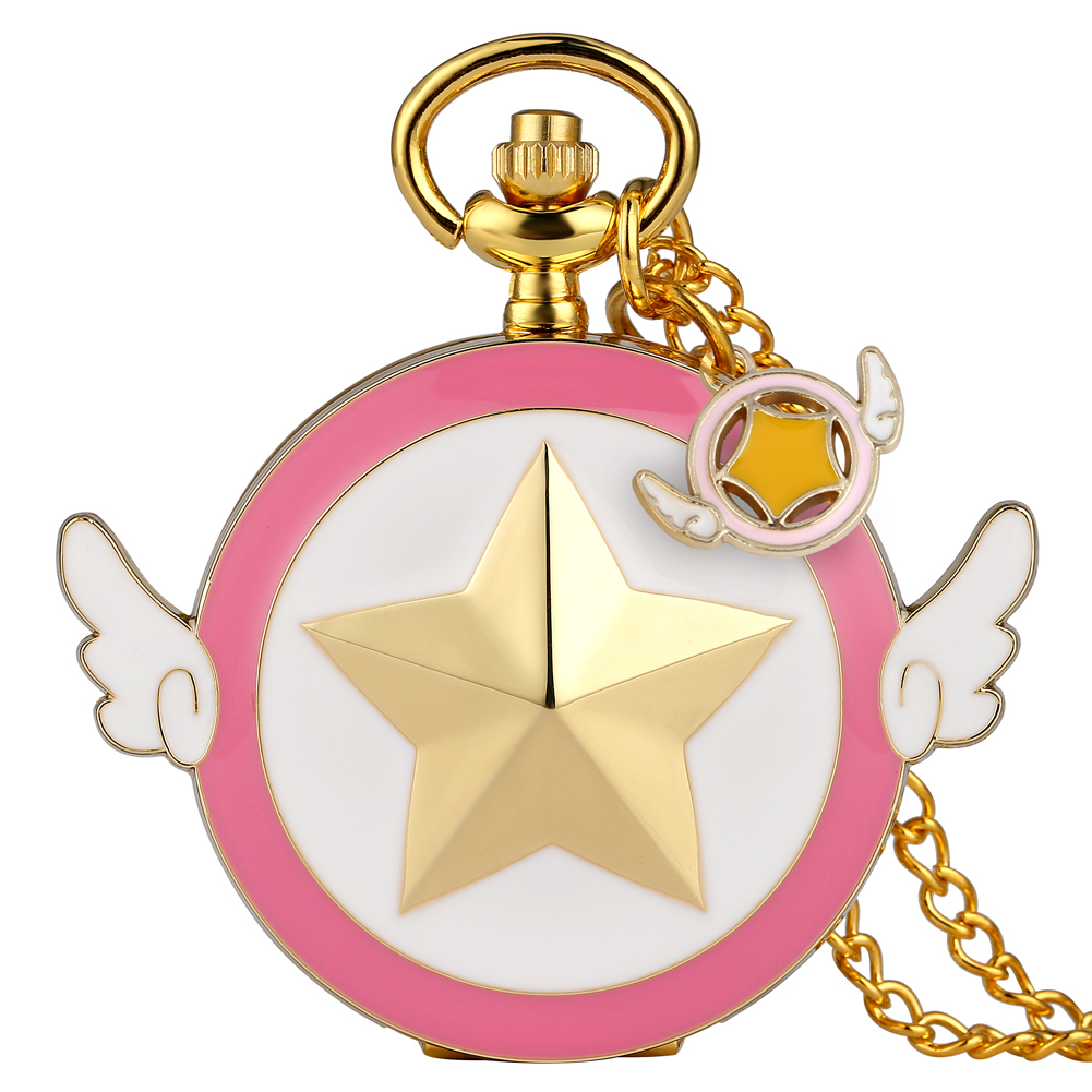 Hot Quartz Pocket Watch Japan Anime Sailor Moon Girls Watches Necklace Pendant Chain Steampunk Fob Watch Unique Gifts Reloj