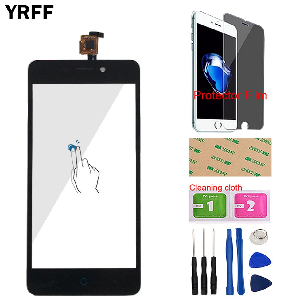 Touch Screen For ZTE Blade X3 Blade D2 T620 A452 Touch Screen Digitizer Sensor Front Glass Mobile Tools Protector Film