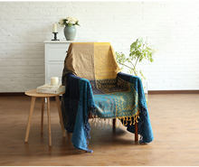 Плед цветочный чехол для дивана одеяло гостиной современный