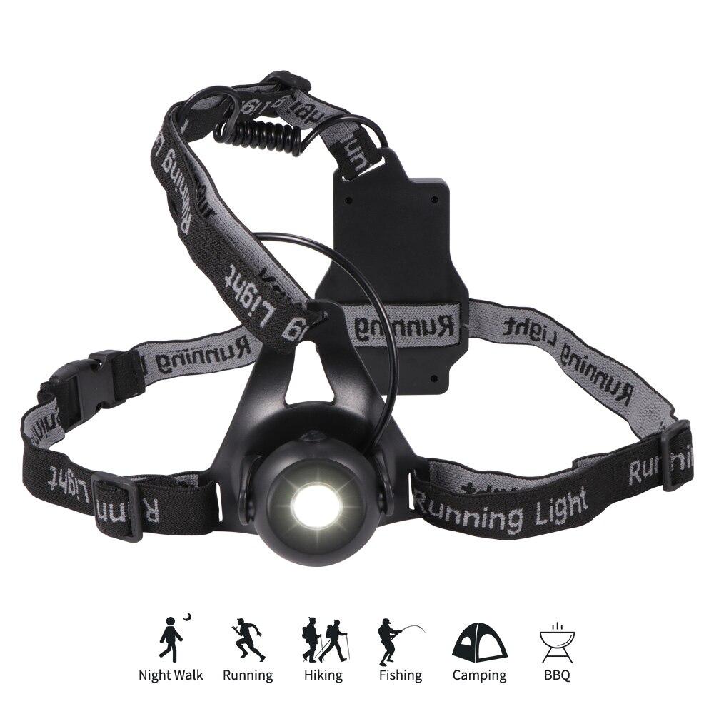 Велосипедный светильник с USB-зарядкой, светодиодный фонарь для ночного бега, нагрудная лампа, прочные предупреждающие лампы для занятий спо...