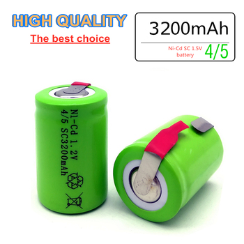 ZONE ONE High quality 4/5 SC battery NI-Cd 1.2V 3200mah rechargeable battery with tab forLED electric tools image