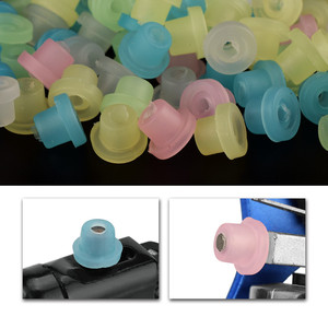 """Image 3 - 100Pcs/Bag Silicone Grommet Rubber Tattoo Machine """"T"""" Needle Pad Nipple Grommets Hat Body Art Accessory Tattoo Airbrush Needle"""