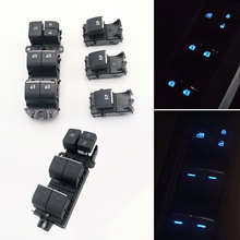 Power-Window-Button-Switch RAV Backlight for Toyota LED Ice-Blue 4-Chr