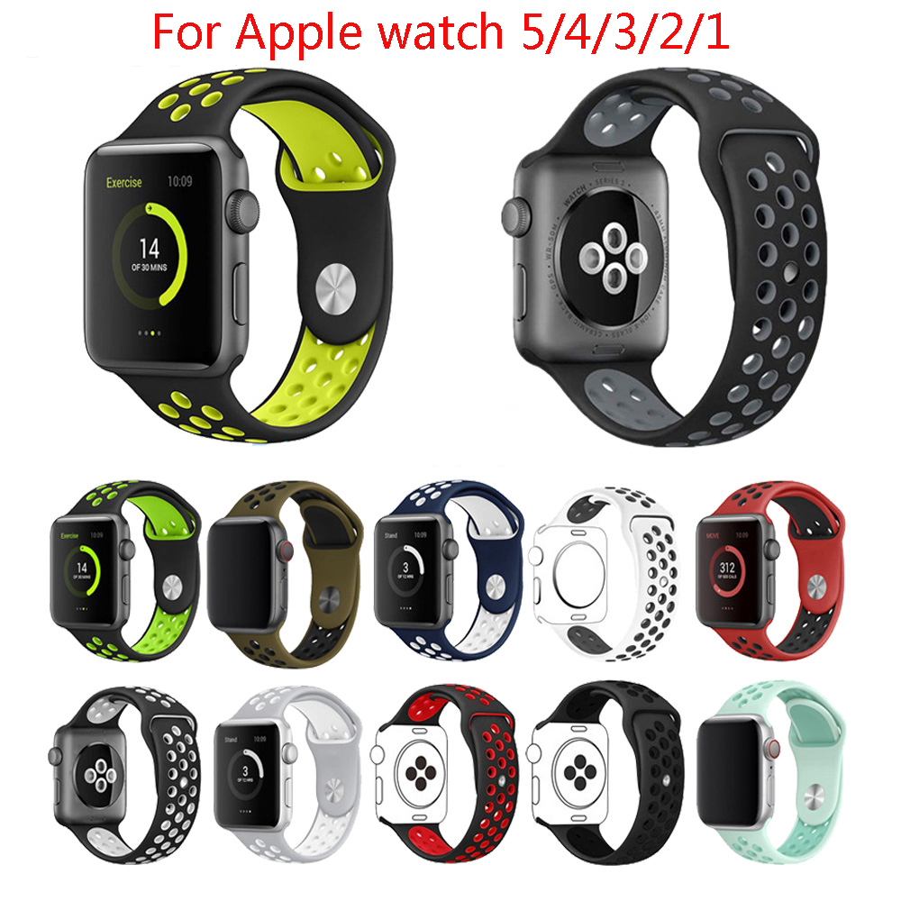 Watch bands strap For Apple Watch band 44mm/40mm apple watch 5 4 3 band iwatch band 5 42mm/38mm bracelet belt watch Accessories