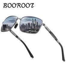BOOROOT New Men's Aluminum Polarized Sunglasses Driver Driving Sun Glasses Classic Fashion Square Sunglasses UV400