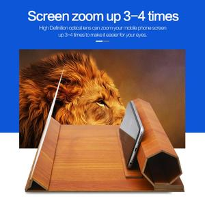 Image 5 - ALLOYSEED 12 pollici Log cellulare 3D HD amplificatore dello schermo lente dingrandimento stereoscopica pieghevole ingranditore staffa del telefono