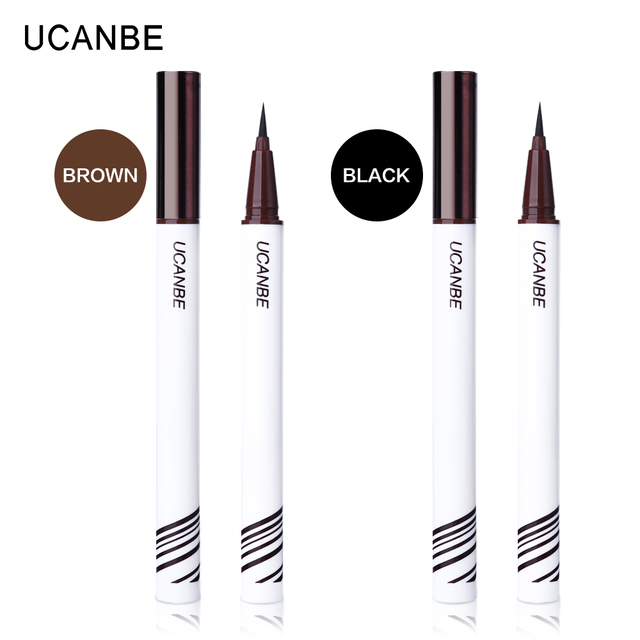 UCANBE Liquid Eyeliner Pencil Black Brown Eye Liner Pen Waterproof Long Lasting Makeup Ultra-fine Tip Non-fading Eyes Cosmetics 1