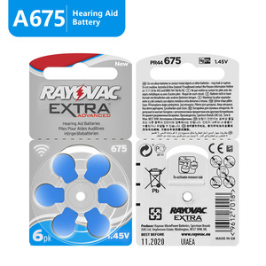 Image 2 - 60 PCS Rayovac Extra Hearing Aid Batteries Zinc Air 675A 675 A675 PR44 For Hearing aid