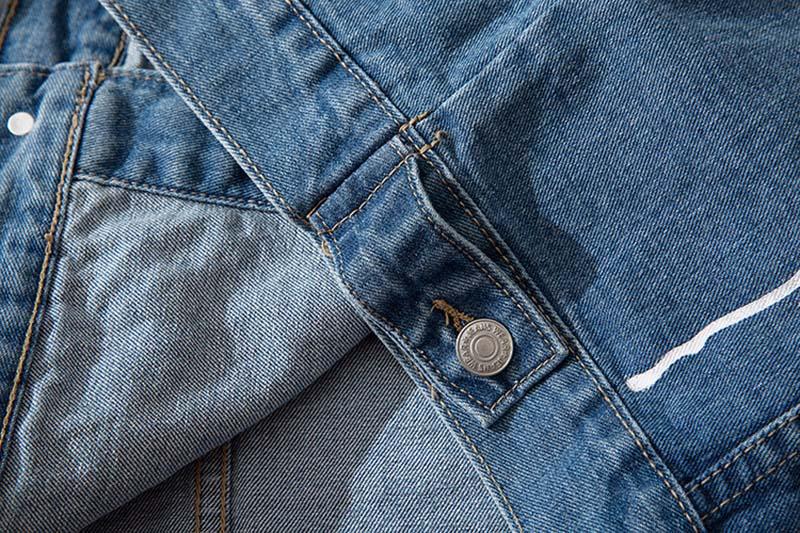 Mcikkny High Street Gradient Color Jeans Jackets Men Letter Graffiti Denim Jackets For Male Streetwear (7)