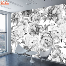 Papers Home-Decor White Black Murals Rolls Living-Room Custom 3d Rose for Contact