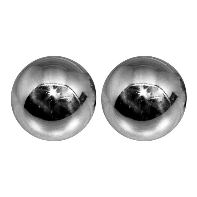 2 sztuk srebrny żelaza Baoding piłki stres ulga siła opieki zdrowotnej masaż dłoni Chrome trwałe domu na zewnątrz ćwiczenia palca