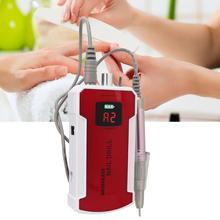 Nail Drill Machine 35000 RPM Portable Rechargeable Nail Drill Pen Apparatus for Manicure Tool Nail Gel Polisher with LCD Display