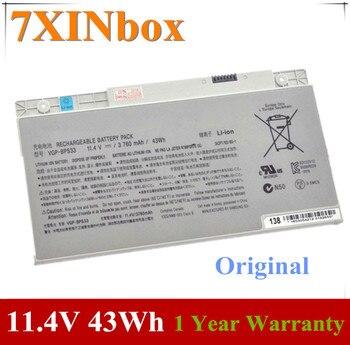 7XINbox 11.4V 43wh Original Laptop Battery VGP-BPS33 BPS33 For Sony SVT-14 SVT-15 T14 T15 Touchscreen Ultrabooks VGPBPS33