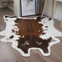 Imitation leather carpet living room coffee table villa study bedroom decoration blanket simulation leather animal fur carpet