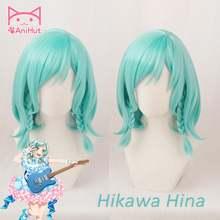 [anihut】hikawa hina wig game bang dream! Парик для косплея синий