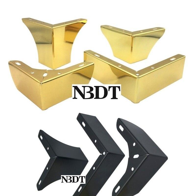 2Pcs/Lot European Gold Matte Black L Sofa Feet Bathroom Cabinet Coffee Bar Cupboard