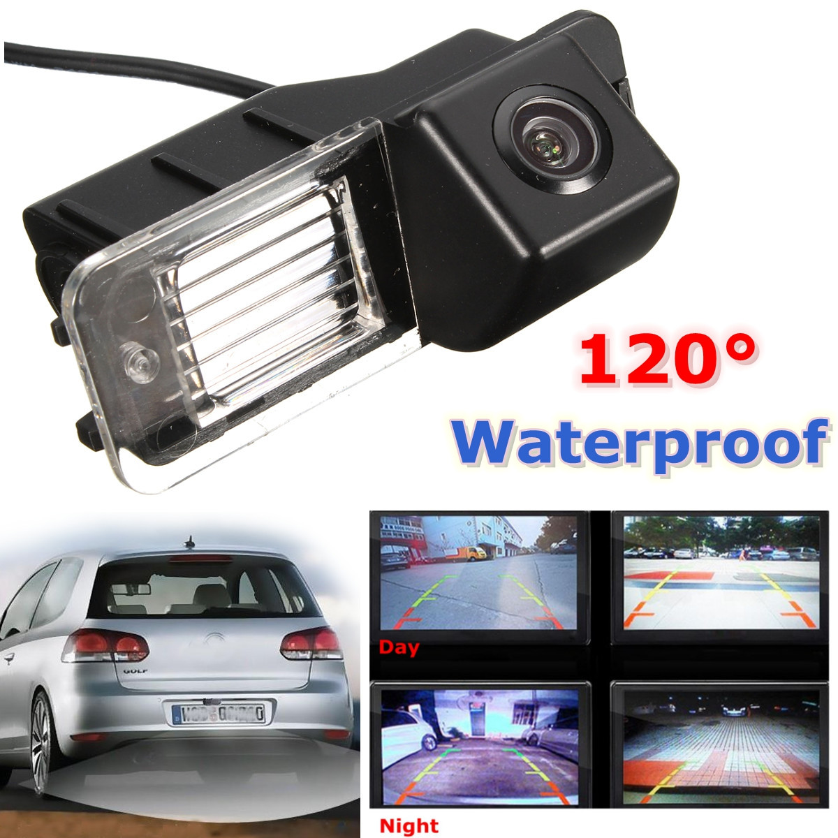 CCD HD Auto Car Rear View Camera Reverse Parking Night Vision Waterproof  For VW Golf MK 6 MK 7 Polo V (6R)  Golf 6 VI  Passat