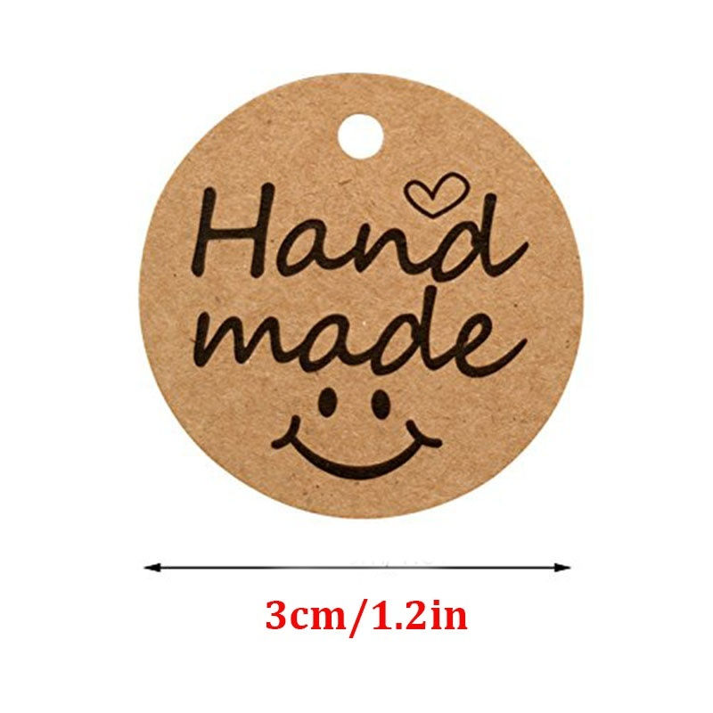 100Pcs Kraft Paper Gift Tags thank you for Celebrating with Us labels handmade for wedding party decoration Packaging Hang paper 3