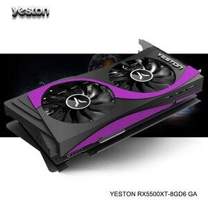 Yeston Radeon RX 5500 XT GPU 8GB GDDR6 128bit 7nm jeu ordinateur de bureau PC cartes graphiques vidéo prise en charge DP/HDMI/DVI-D