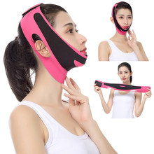 Face lifting fino facial cinto v rosto bandagem reduzir queixo duplo magro lift up emagrecimento ferramenta de beleza rosa preto