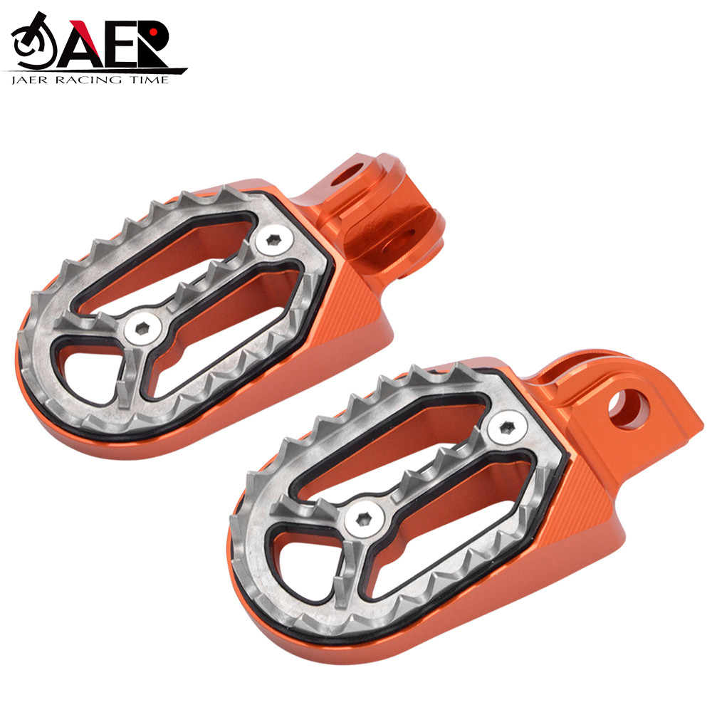 JAER Motorcycle Foot Pegs Pedals Rest Footpegs For KTM 1290 Super Adv/R/S/T 1190 1090 1050 990 Adventure 690 950 Super Moto/R