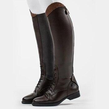 Womens Winter Retro Slip On Equestrian Riding Boots 26