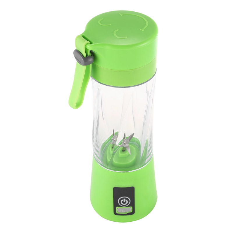 Portable USB Rechargeable Blender Mixer 6 Blades Juicer Handheld Smoothie Mini Juice Cup Electric Fruit Juicer Machine Green image