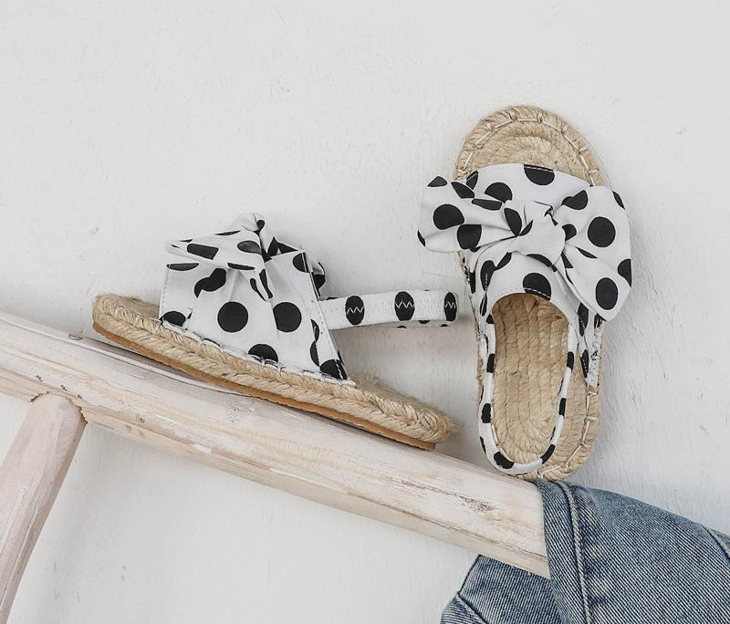 2020 New Princess Shoes Country Style Woven Girl Sandals Cute Summer Kids Sandals Rhinestone Design Sandal Girl Open Toe Sandals