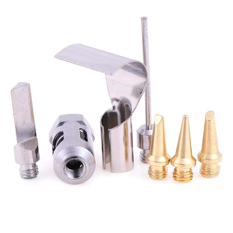 1Pc Copper+Iron Gas Welding Kit Gas Soldering Iron Head / 5Pcs HS-1115K Butane Gas Soldering Iron Kit Welding Kit Torch Pen Tool