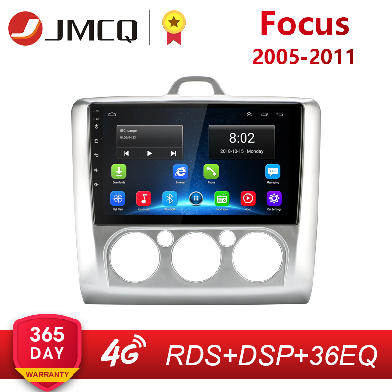"JMCQ 9"" 2 Din 4G WIFI Car Radio for Ford Focus Exi MT AT 2004-2011 Multimedia Player Quad-core Android 8.1 GPS Navigation"