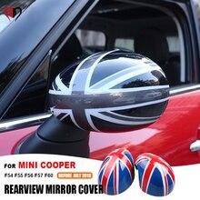 Hot Union Jcak Rearview Mirror Cover Shell for Mini Cooper F54 F55 F56 F57 F60 Countryman Clubman Rear Mirror Cover Sticker Case