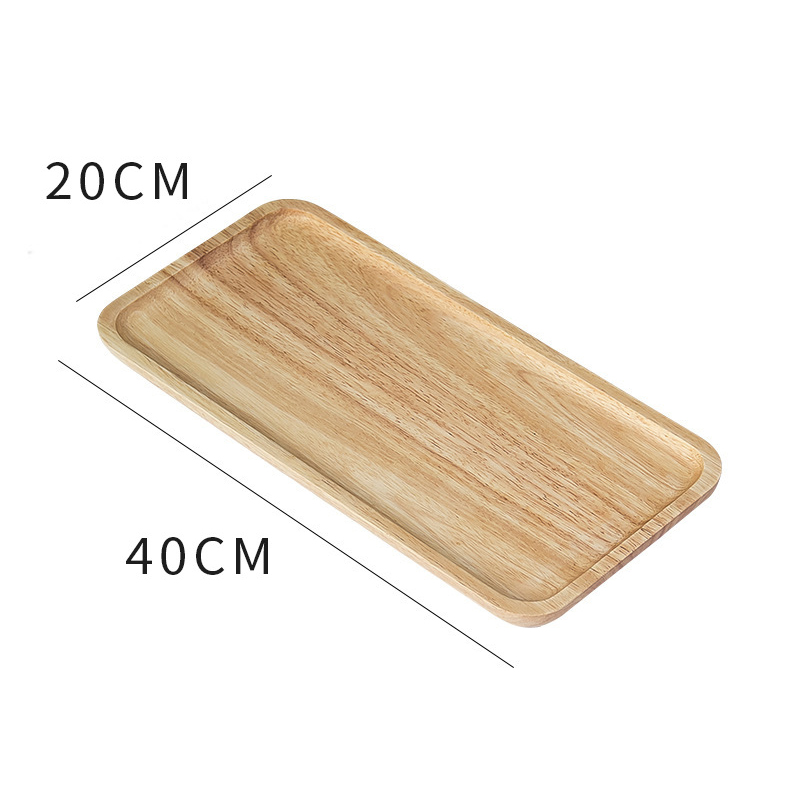 Wooden Round Storage Tray Plate Tea Food Dishe Drink Platter Food Plate Dinner Beef Steak Fruit Snack Tray Home Kitchen Decor - Цвет: 16