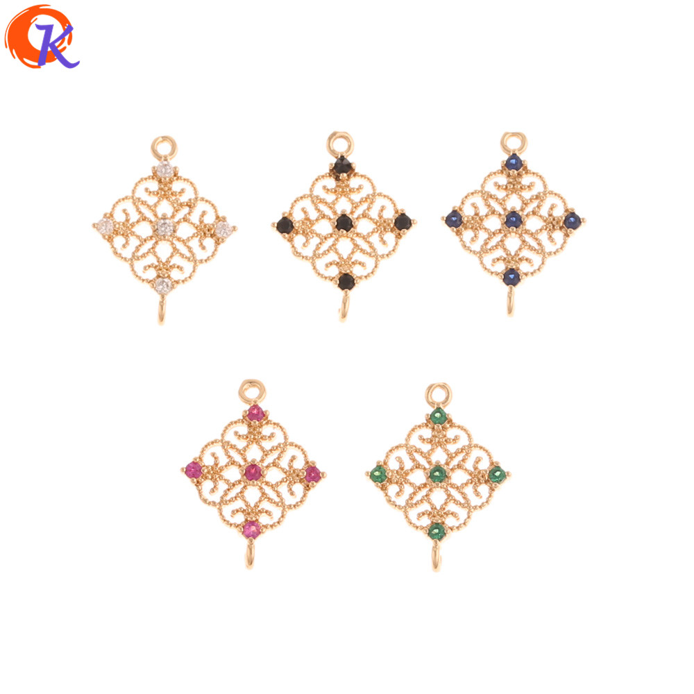 Cordial Design 50Pcs 13*17MM Earrings Connectors/Jewelry Accessories/Hand Made/DIY Parts/Earring Findings/CZ Jewelry Making
