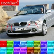 Accessoires de phare multicolore avec télécommande DRL RF, yeux dange pour BMW série 3 E46 2004 2006, RGB LED