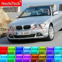 עבור BMW 3 סדרת E46 2004 2006 אביזרי פנס האחרון רב צבע RGB LED אנג ל עיני Halo טבעת עין DRL RF שלט רחוק