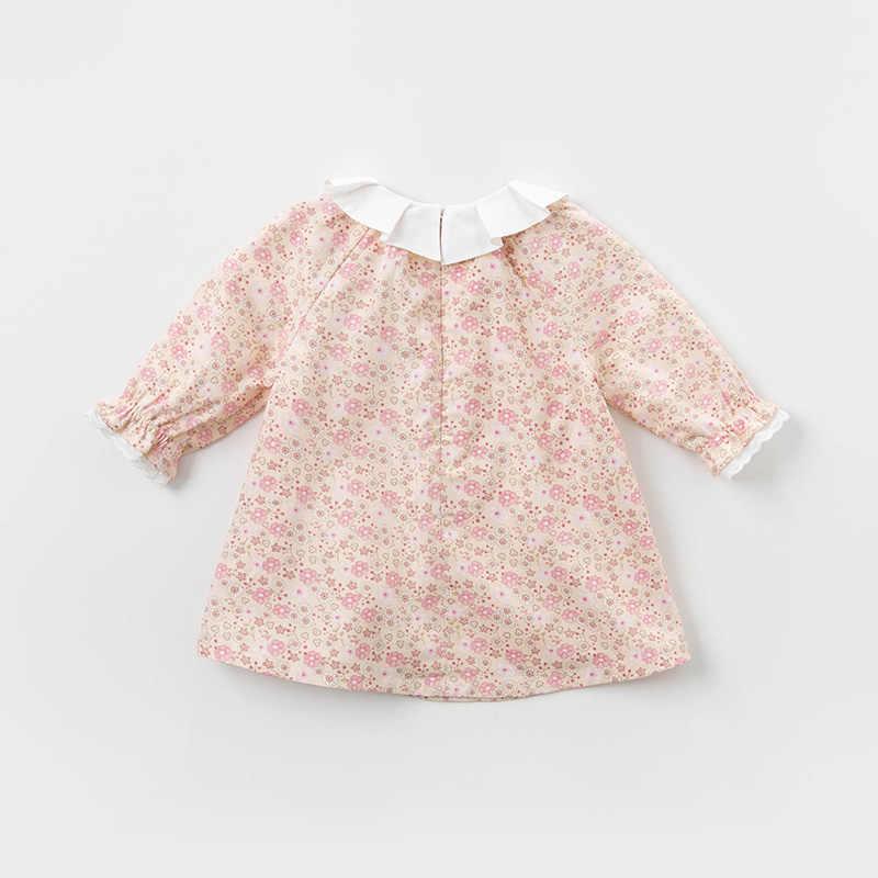DBS12125 דייב bella אביב תינוקת של נסיכת פרחוני רוכסן שמלת ילדי אופנה המפלגה שמלת ילדים תינוקות לוליטה בגדים