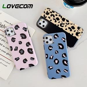 Мягкий чехол-накладка LOVECOM с леопардовым принтом для iPhone 11 Pro Max XS Max XR XS 6 6S 7 8 Plus