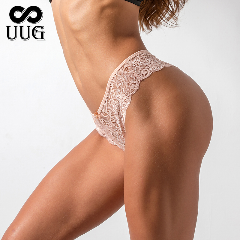UUG woman Panties for Female Girls Ladies Floral Pantys Underpants Cotton Thong Panties Sexy G string