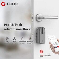 Per Airbnb Blocco GIMDOW Porta Intelligente Blocco della Password di Blocco Includono Password Disco Elettrico Serratura Dell'hotel Serratura Elettrica del Bullone Bluetooth di Blocco