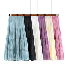 Women Gypsy Boho Skirt Sweet Comfortable Dress Casual Long Skirt Breathable Clothes Summer Skin-friendly Maxi Skirt Fashion