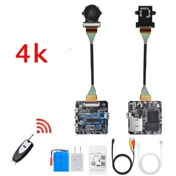 Fernbedienung Echt 4K 4096*2160 WiFi 30fps 60fps P2P Mini Kamera Video Recorder Camcorder Weitwinkel Drohnen DIY modul