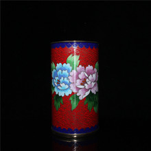 Chinese old Beijing old goods collection old Copper Cloisonne Pen holder cheap MIAO YANG GONG YI CHINA Mascot