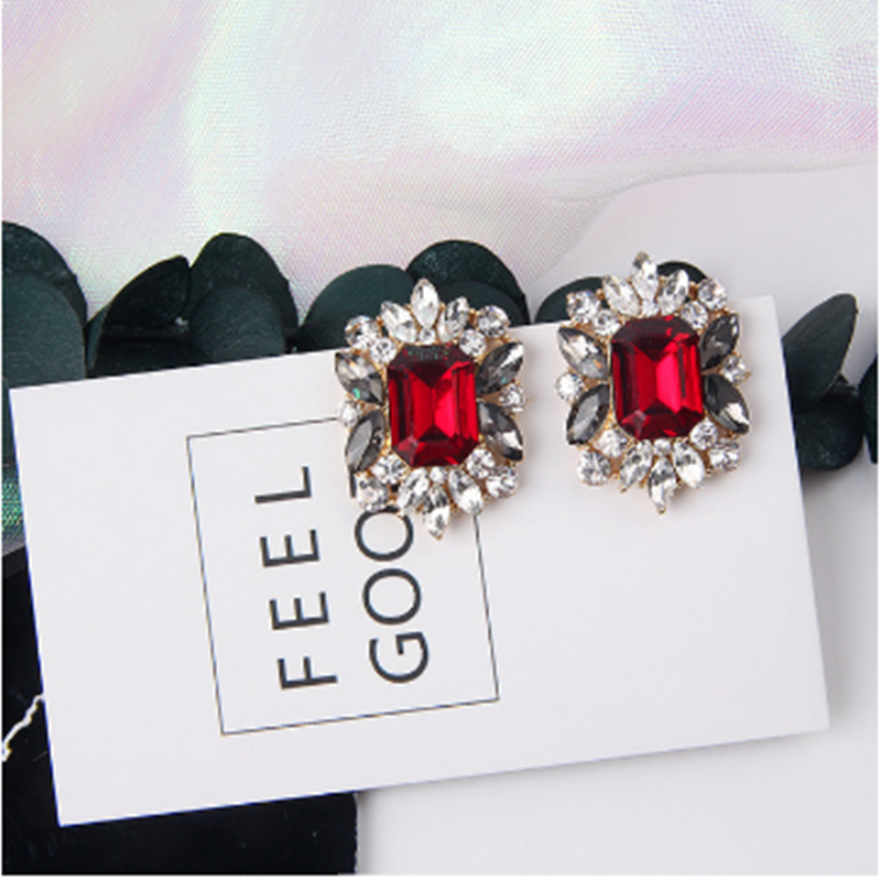 H84c7df44762e4b53ba4b1b30888df595q - 2019 New Hot Sale 20 Style Red Fashion Korean Elegant Geometric Dangle Earrings for Women Cute Pendant Mujer Jewelry