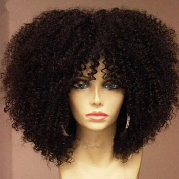 Peluca rizada Afro mongol 150% de densidad con encaje de explosión 13x6 pelucas de cabello humano pre-desplumado para mujeres negras nudos blanqueados